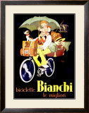 Bianchi Biciclette Framed Giclee Print by  Mich (Michel Liebeaux)