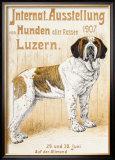 Austellung Von Hunden Framed Giclee Print by H. C. Kaufmenn