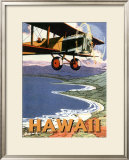 Hawaii, Sight Seeing by Air Framed Giclee Print