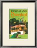 United Airlines: Disneyland in Anaheim, California, c.1960's Prints by Stan Galli