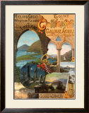 Tour Ireland Connemira Mgw Railway Framed Giclee Print by Hugo D'Alesi