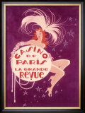 Casino de Paris Grand Revue Framed Giclee Print
