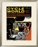 Cycle World, Triumph 650 TR6 Framed Giclee Print