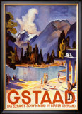 Gstaad Prints by Otto Baumberger
