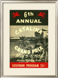 1956 Catalina Motocross Grand Prix Poster Framed Giclee Print