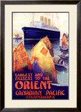 Canadian Pacific Orient Framed Giclee Print