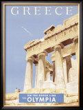 Greek Parthenon Framed Giclee Print