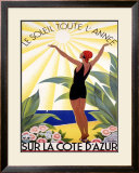 Cote d&#39;Azur, Le Soleil Toute l&#39;Annee Framed Giclee Print by Roger Broders