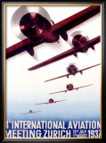4th International Aviation Meeting, Zurich Framed Giclee Print