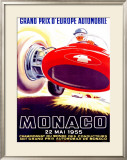 Monaco Grand Prix, 1955 Framed Giclee Print by J. Ramel