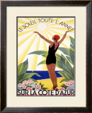 Cote d'Azur, Le Soleil Toute l'Annee Framed Giclee Print by Roger Broders