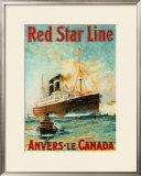 Red Star Line, Anvers to Canada Poster