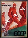 CCCP Russian Propaganda Poster Framed Giclee Print