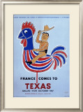 France comes to Texas, 1957 Framed Giclee Print by Raymond Savignac
