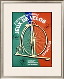Jeux de Velos Bicycle Expo Framed Giclee Print