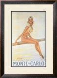 Monte-Carlo Framed Giclee Print by Jean-Gabriel Domergue