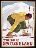 Winter in Switzerland Framed Giclee Print
