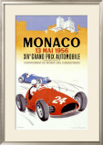 Monaco Grand Prix, 1956 Framed Giclee Print by J. Ramel