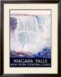 New York, Central Lines, Niagara Falls Framed Giclee Print by Frederic Madan