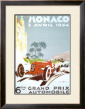 6th Grand Prix Automobile, Monaco, 1934 Art by Geo Ham