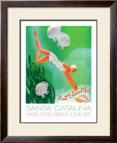 Visit Beatiful Santa Catalina Framed Giclee Print