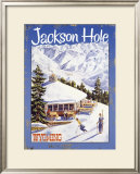 Ski Jackson Hole, Wyoming Framed Giclee Print