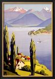 Rhone Alps Lake Annecy Framed Giclee Print