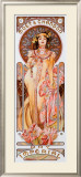 Moet Chandon Dry Imperial Framed Giclee Print by Alphonse Mucha