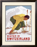 Winter in Switzerland Framed Giclee Print