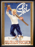 Ski Colorado Rockies Framed Giclee Print
