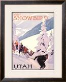 Visit Snowbird, Utah Framed Giclee Print