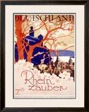 Rhine River Magic Tour Framed Giclee Print
