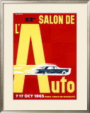52nd Salon de l'Auto, 1965 Framed Giclee Print by Pierre Fix-Masseau