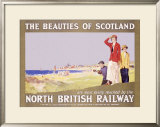North British Railway, Golf in Scotland Framed Giclee Print