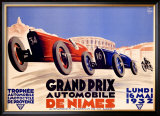 Grand Prix de Nimes, 1932 Framed Giclee Print
