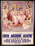 Eden Hashish Centre Framed Giclee Print by Ramesh Sharma