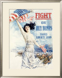 WWI, Fight Or Buy Liberty Bonds Framed Giclee Print