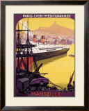 Marsella, metrópolis industrial Lámina giclée enmarcada por Roger Broders