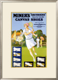 Miner's Canvas Shoes Framed Giclee Print