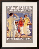 India to Australia with P&O Framed Giclee Print by Eric Michaels