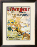 Le Vengeur Panoroma Naval Framed Giclee Print by Lucien Lefevre