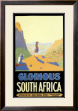 Cape Town South Africa Travel Framed Giclee Print by H.c. Lindsell