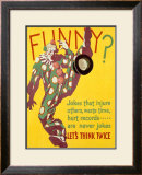 Think Twice Clown Framed Giclee Print