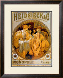 Heidsieck Framed Giclee Print by Alphonse Mucha