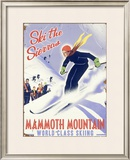 Mammoth Mountain, Ski the Sierras Framed Giclee Print