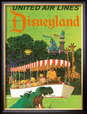 United Airlines: Disneyland in Anaheim, California, c.1960's Framed Giclee Print by Stan Galli