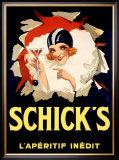 Schick's Framed Giclee Print