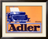 Adler Typewriter Framed Giclee Print