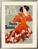Jane Derval, Folies Bergere Framed Giclee Print by Georges de Feure