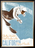 Mammoth Mountain: Ski the World Framed Giclee Print